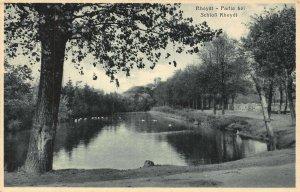 Rheydt Partie bei Schloss Castle Lake Birds Postcard