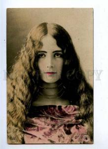 193864 CLEO DE MERODE BALLET Dancer LONG HAIR Old tinted PHOTO