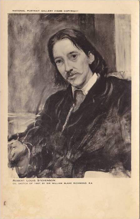 Oil Sketch, Robert Louis Stevenson, 1810-1894, Famous as novelist and essayis...