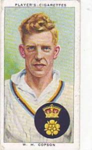 Player Vintage Cigarette Card Cricketers 1938 No 5 W H Copson Derbyshire