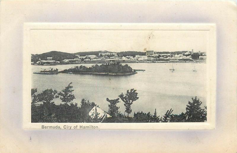 Bermuda city of Hamilton postcard