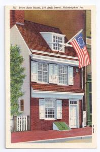 Betsy Ross House Philadelphia PA Vintage 1937 Curteich Linen