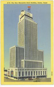Texas - Dallas - New Mercantile Bank Bldg - Cars - 1943