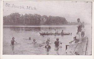 People in the water, Row Boat, ST. JOSEPH, Michigan, 10-20s