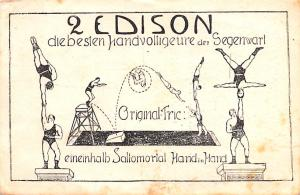 Circus Acts Post Cards 2 Edison Diebesien Handvolligeure den Segenwart Strong...