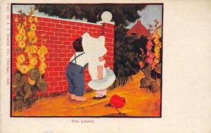Sun Bonnets Post Card The Lovers Unused