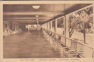 Florida Daytona The Williams Hotel Veranda 1924 Albertype