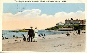 MA - Nantasket Beach. View of Beach and Atlantic House