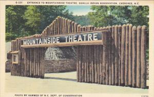 Mountainside Theatre Entrance Qualla Indian Reservation Cherokee North Carolina
