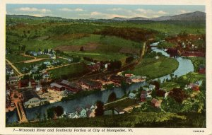 VT - Montpelier. Winooski River and Southerly Portion of City