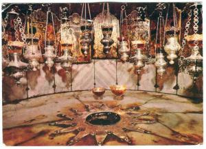 Bethlehem, Grotto of the Nativity, Grotte der Geburt Christi, 1972 used Postcard