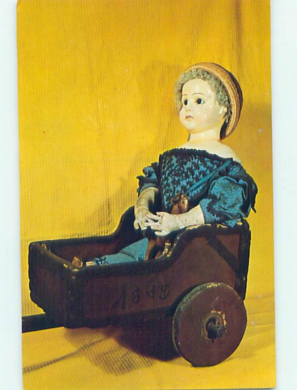 Pre-1980 POSTCARD OF ANTIQUE DOLL AT MUSEUM Douglassville Pennsylvania PA hr0423