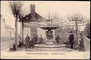 france, VILLENEUVE-La-GUYARD, Yvonne, Fontaine Regnoul