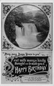 Vintage 1911 Happy Birthday GREETINGS REAL PHOTO Postcard by Davidson Bros. #19