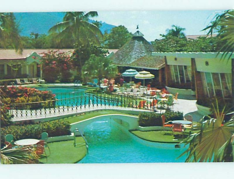 Unused Pre-1980 EL RANCHO HOTEL SWIMMING POOL Port-Au-Prince Haiti F6237@