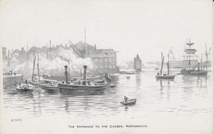 Entrance to Camber - Portsmouth, England - Drawing - Unused