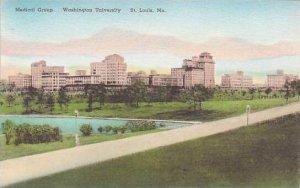Missouri St Louis Medical Group Washington University Handcolored Albertype
