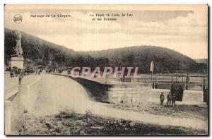 Old Postcard Rarrage of Glleppe Bridge Lion Lake and locks