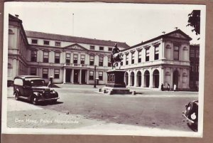 South Holland Paleis Noordeinde in Den Haag palace antique cars EARLY VIEW RPPC