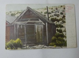1907 Postcard Mark Twain's Cabin Aurora NV Mineral County Roughing it RARE FIND!