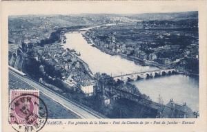 Namur, Belgium, PU-1911 ; Vue generale de la Meuse