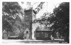 Cuthbert Georgia Baptist Church 2-T-1041940s RPPC Photo Postcard 21-6019