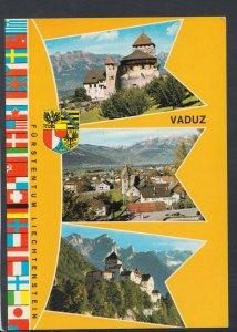 Liechtenstein Postcard - Views of The Capital Vaduz  T6388