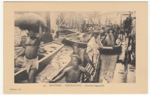 Benin; Dahomey, No 33, Porto Novo, The Lake Quarter PPC, By ER, Unused, c 1920's