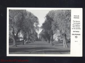 RPPC ONTARIO CALIFORNIA RESIDENCE STREET SCENE VINTAGE REAL PHOTO POSTCARD