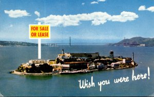California San Francisco Alcatraz Island 1964