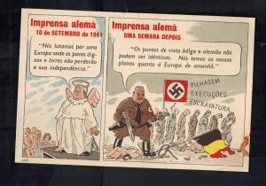 Mint WW2 Portugal  Postcard German Press Slavery of Europe