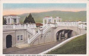 New York Lake George Pergola On Lake Front Fort William Henry Hotel