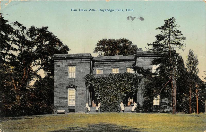 F27/ Cuyahoga Falls Ohio Postcard 1913 Fair Oaks Villa Building