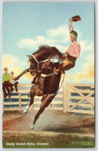 Doubleday Cowboy Western Rodeo~Horse~Smoky Branch Riding Glasseye~1939 Linen PC