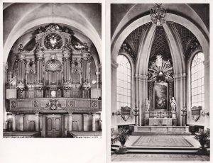 Maria Kyrka Sweden Stockholm Interior 2x Real Photo Postcard