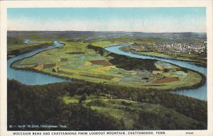 Tennessee Chattanooga and Moccasin Bend From Lookout Mountain Curteich