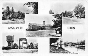 Netherlands Groeten uit Leiden, Gymnasium, multiview auto cars 1959