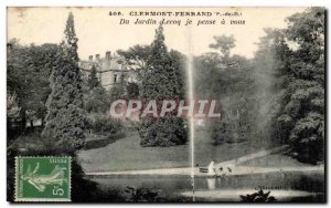Old Postcard Clermont Ferrand Jardin Lecoq I think about you