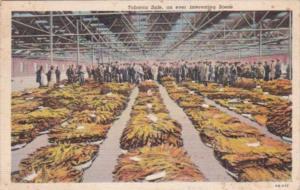 Tobacco Auction Sale In Progress In Tobaccoland Curteich 1940