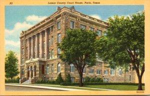 Texas Paris Lamar County Court House Curteich