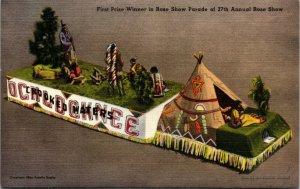 Winner 27th Rose Show Parade Float Thomasville Georgia Ochlochnee Post Card