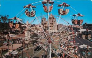 Guadalajara Jalisco Mecico~Yearly Fair~Ferris Wheel Close-Up~Midway~Shrine~1960s