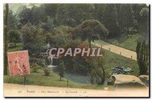 CARTE Postale Old Paris Montsouris Park Waterfall