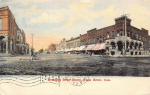 LPS69 EAGLE GROVE Iowa Broadway Street Town View Postcard