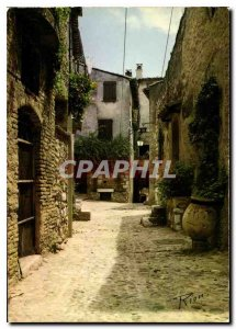 Modern Postcard The French Riviera unforgettable top of Cagnes Old Street