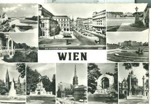 Austria, Vienna, Wien, Multi view unused real photo Postcard