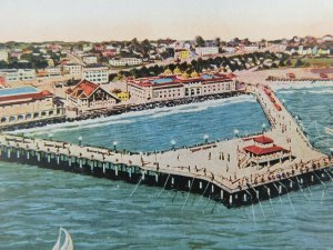 New Pleasure Pier Redondo Beach California Divided Back Vintage Postcard
