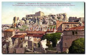 Baux - Built in the X century it abrits Chateau des Princes - Old Postcard
