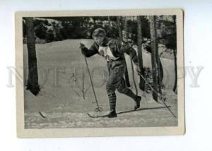 166992 VII Olympic ELFRIEDE UHLIG cross skier CIGARETTE card