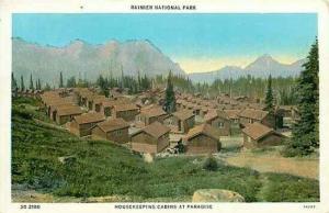 WA, Rainier National Park, Washington, Housekeeping Cabins at Paradise, Tichnor